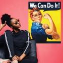 Vinilo cartel mujer Rosie