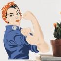 Vinilo mujer trabajadora