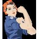Vinilo decoración mujer trabajadora
