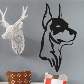 Vinilo pared doberman