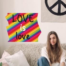 Vinilo arco iris love is love