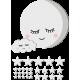 Vinilo luna con nube y estrellas