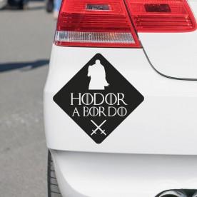 Vinilo coche Juego de Tronos Hodor a bordo