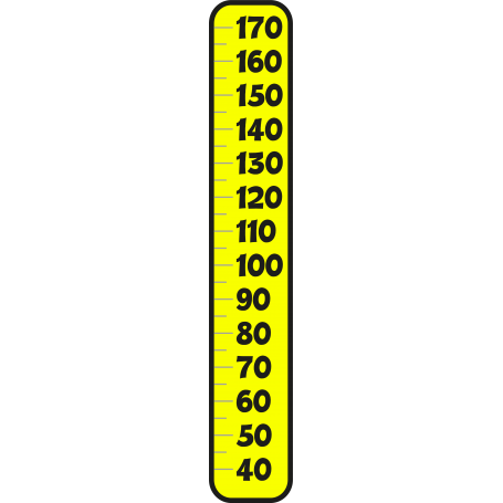 Vinilo medidor de altura