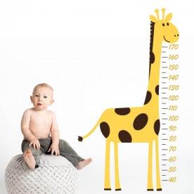 Vinilo medidor infantil con jirafa