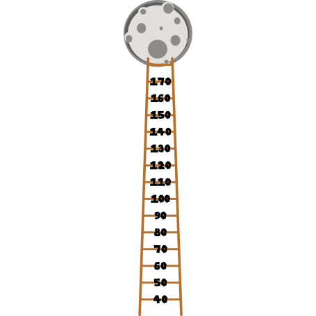 Vinilo infantil medidor escalera luna