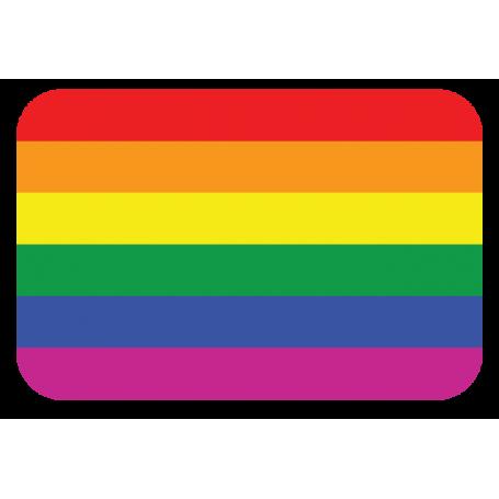 Pegatina bandera LGBTI gay