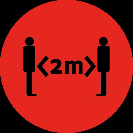 Vinilo señal 2 metros distanciamiento social