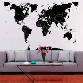 vinilo pared mapamundi fronteras
