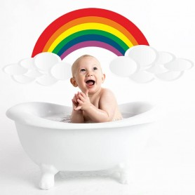 Vinilo infantil nube con arco iris