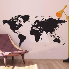 Vinilo decorativo mapa del mundo