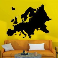 Vinilo mapa Europa