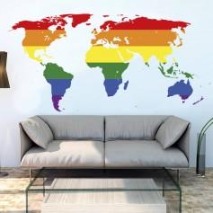 Vinilo mapamundi gay LGBTI