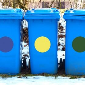 Vinilo cubo basura reciclaje