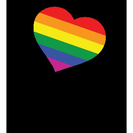 Vinilo decorativo LOVE texto LGBTI