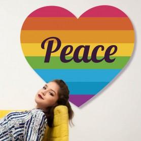Vinilo decorativo corazón PEACE LGBTI