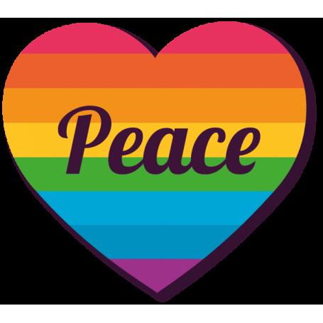 Vinilo corazón PEACE LGBTI gay