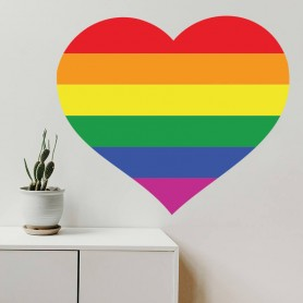 Vinilo decorativo corazón amor LGBTI