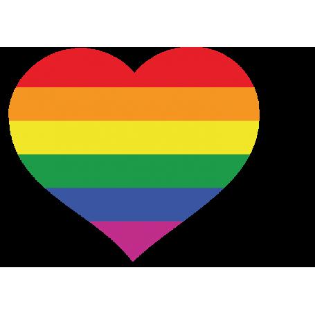 Vinilo corazón arco iris LGBTI gay