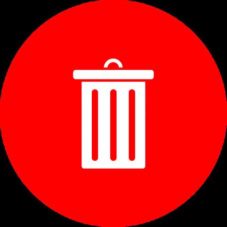 Vinilo para señalizar cubo de basura