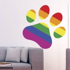 Vinilo decorativo perro huella LGBTI