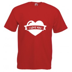 Camiseta corazón i love you