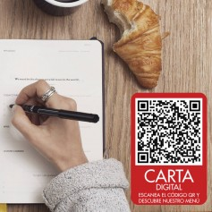 Vinilo QR carta restaurante