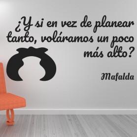 Vinilo volar alto Mafalda