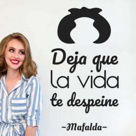 Vinilo la vida te despeine Mafalda