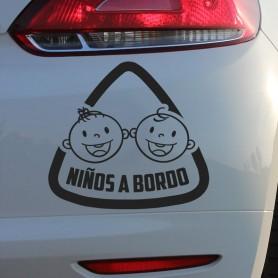 Vinilo para coches niños a bordo