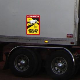 Pegatina para camiones ángulos muertos