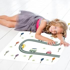 Alfombra pvc infantil carreteras