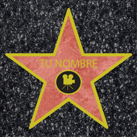 Alfombra estrella Hollywood PVC