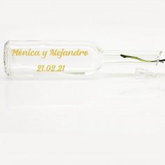 Vinilo bote cristal nombre ORO
