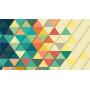 Alfombra vinilo triángulos colores
