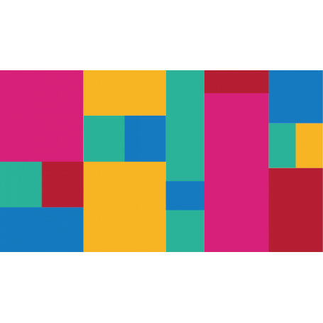 Alfombra de vinilo forma cuadrados colores