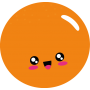 Alfombra vinílica para cocina naranja kawaii