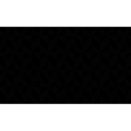 Alfombra de vinilo formas negra y blanca