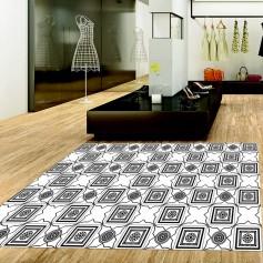 Alfombra pvc azulejos negros