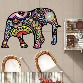 Alfombra vinilo elefante mandala