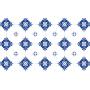 Alfombra vinílica cerámica azul Manises