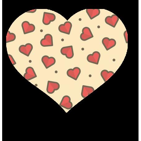 Alfombra de vinilo corazones