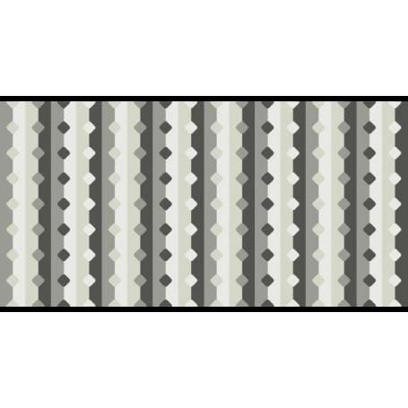 Alfombra de vinilo abstracta color gris