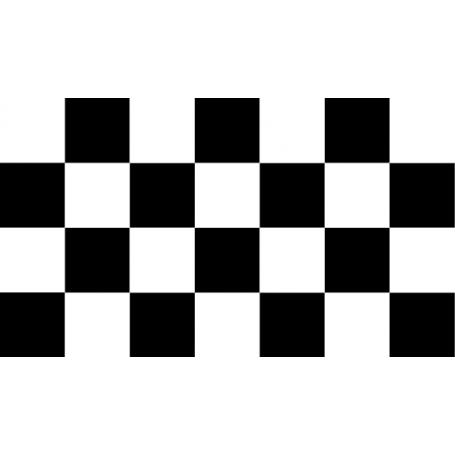 Alfombra vinilo cuadrados blancos y negros