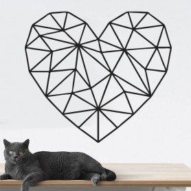 Vinilo decorativo corazón geométrico