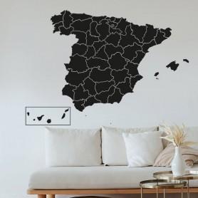 Vinilo decorativo Mapa España Provincias
