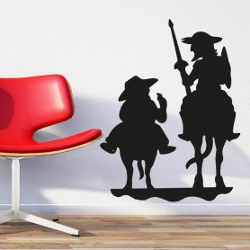 Pegatina Don Quijote pared