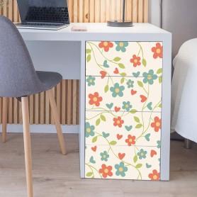 Vinilo para muebles flores