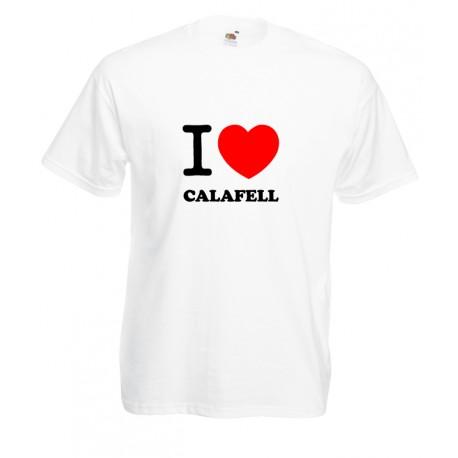Camiseta i love Calafell