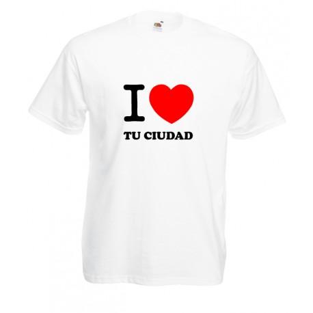 Camiseta i love personalizado